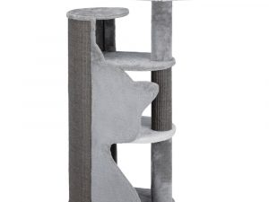 Trixie Abele Scratching Tree with Cat Silhouette - Grey, White & Dark Grey