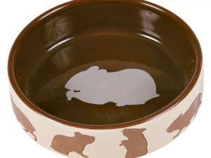 Trixie Ceramic Food Bowl for Small Pets Hamster 80ml / 8cm Diameter