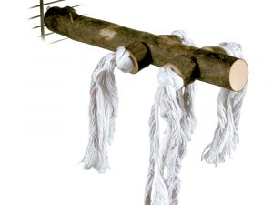 Trixie Natural Bird Perch With Play Rope 250x25mm