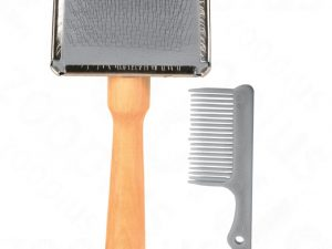 Trixie Soft Brush with Brush Cleaner Cat & Dog