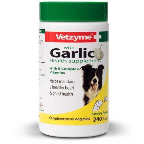 Vetzyme Tablets With Garlic Dog Supplement 240 tablets
