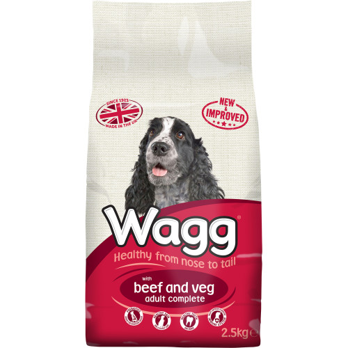 Wagg Complete Beef & Vegetable Adult Dog Food 2.5kg