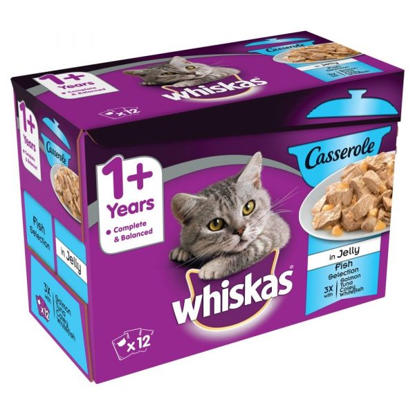 Whiskas Fish Selection in Jelly Casserole Wet Cat Food