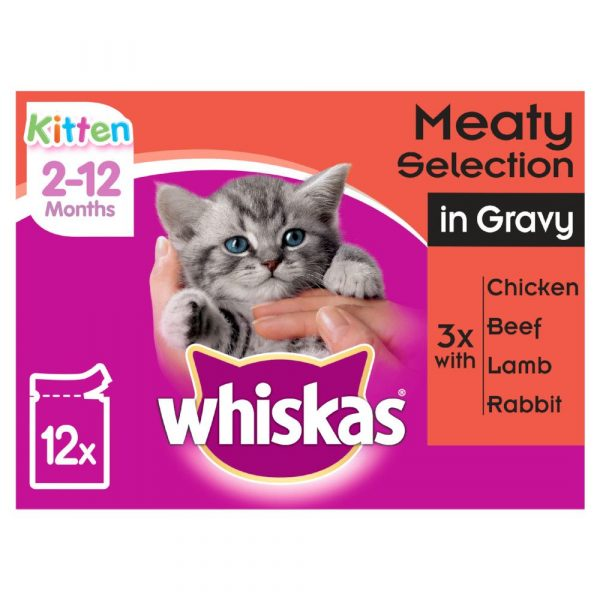 Whiskas Fish Selection in Jelly Pouches Kitten Wet Cat Food
