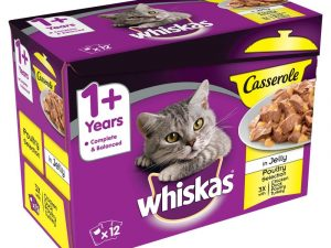 Poultry Selection in Jelly Casserole Whiskas Wet Cat Food