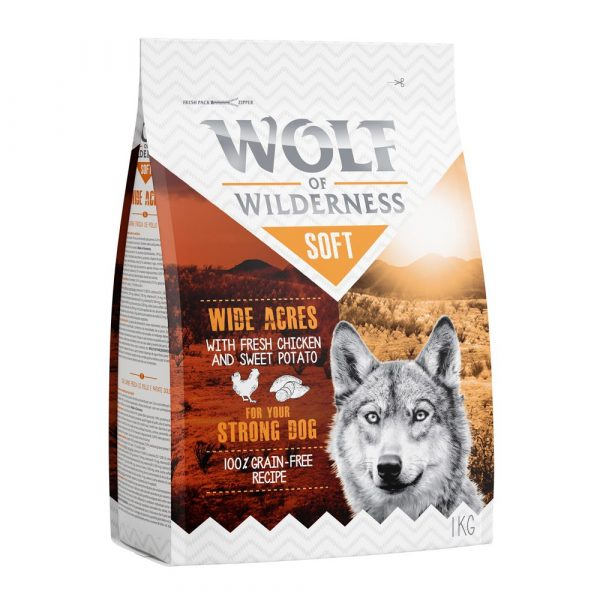 Wolf of Wilderness Chicken Beef Lamb Mixed Pack Semi-Moist Dry Dog Food