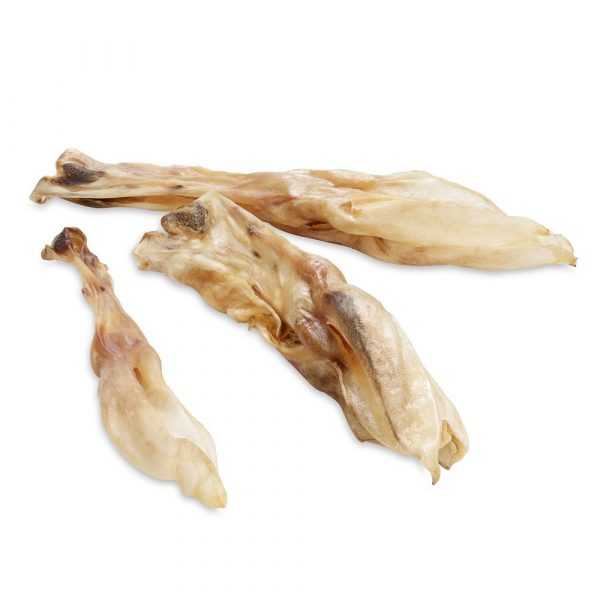Wolf of Wilderness Dog Snacks - Dried Rabbit Ears with Fur