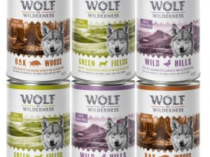 Mixed Pack Adult Wolf of Wilderness 3 Varieties Wet Dog Food